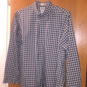 LLBean Casual Button Down Plaid Shirt